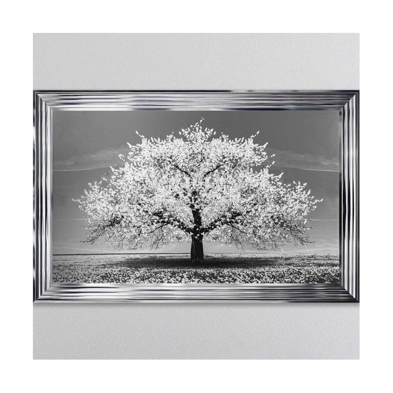White Cherry Tree Liquid Art Picture Furnish Your Interior
