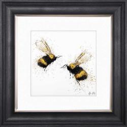 Bee Love 55cm x 55cm Grey...