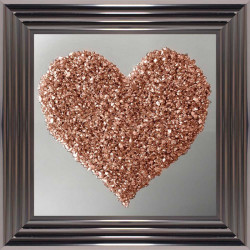 Rose Gold Clustered Heart...