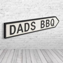 Dads BBQ Vintage Road Sign,...